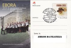 Bilhete postal com carimbo comemorativo alusivo ao dia mundial da missões