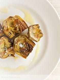 Alcachofas a la plancha y una nueva forma de cocer las alcachofas Easy Cooking, Healthy Cooking, Cooking Recipes, Healthy Recipes, Paleo Side Dishes, Slow Food, Mini Foods, Special Recipes, Vegetable Recipes