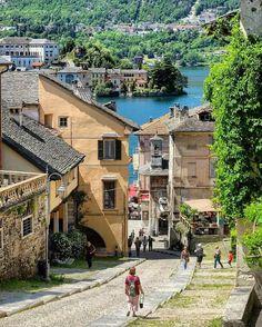 Foto: Lake Orta, Orta San Giulio beautiful village.