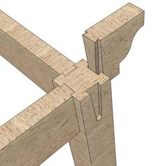 Lincoln Log style. The tenon, a reverse image of the mortise, slides in, creating a tight, fit that also allows the wood to naturally expand and contract, virtually eliminating gaps!