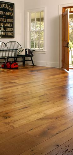 Antique Flooring and Oak Wood Flooring from Carlisle Wide Plank Floors Honey Oak Trim, Reclaimed Oak Flooring, Nantucket Home, Modern Farmhouse Decor, Country Farmhouse, Country Decor, French Country, Wide Plank Flooring, Hardwood Floors