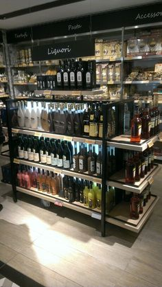 Liquor Store Open Near Me 🥃 Find Nearby Liquor Stores Supermarket Design, Retail Store Design, Wine Shop Interior, Alcohol Shop, Liquor Shop, Retail Fixtures, Wine Display, Coffee Store, Modern Shop