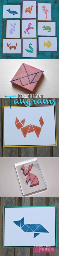 Craftaholics Anonymous® | a craft that follows pattern and design. a fun card making craft, and a tutorial on how to make the animals.