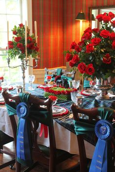 Rosettes for the back of your derby party chairs.