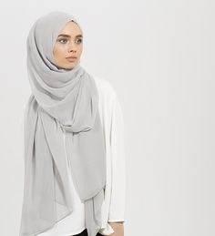 Modest Fashion for Modern Women by Inayah Islamic Fashion, Muslim Fashion, Modest Fashion, Hijab Fashion, Fashion Outfits, Hijab Trends, Grey Maxi, Casual Hijab Outfit, Hijab Tutorial