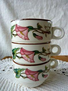 3 Vintage Palermo Villeroy & Boch Demitasse by BonniesVintageAttic, $29.95 - Love their stuff!