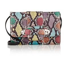 Michino Phedra Clutch (99245 RSD) ❤ liked on Polyvore featuring bags, handbags, clutches, multi, multi colored leather purses, leather clutches, strap purse, multi colored handbags and genuine leather purse