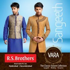 #RSBrothers presenting #VARA – The Classic Groom Wedding Collection, Celebrate your precious #Sangeeth moments with our exclusive VARA collections. Available at all your nearest R.S.Brothers Malls.