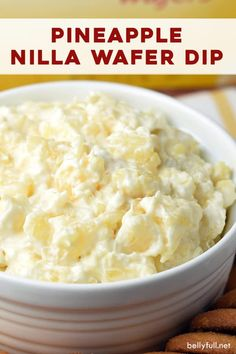 This sweet and refreshing Nilla Wafer Pineapple Dip calls for only 5 ingredients and 10 minutes of your time. Great for parties! Appetizer Dips, Yummy Appetizers, Appetizer Recipes, Pineapple Dip, Pineapple Recipes, Dessert Dips, Desserts, Nilla, Xmas Food