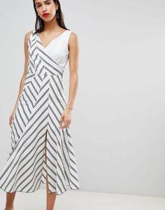 Sportmax Code Stripe Midi Dress