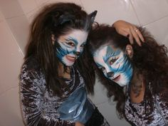 Cats. Face Painting by Laura Tevar. Carnival 2010, Yecla (Spain)