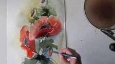 China Painting Tutorial - Poppies - Barbara Duncan - YouTube