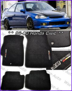 Need My Floor Mats Right Now Are From A Wrecked Integra And There Gross Please Mom And Dad Black Honda Floor Mats Civic