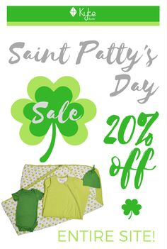 Use Coupon Code SAINTPATRICK at checkout to enjoy 20% off our entire site now through Monday!