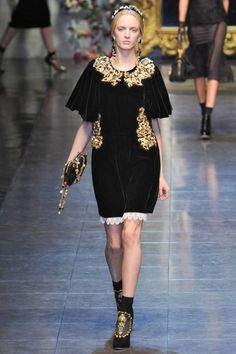 Go boldly baroque with Dolce & Gabbana as an example