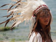 White Feather Crown Headdress -Paradise Gypsies