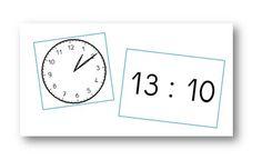 Jeu de lecture de l'heure - Le petit cartable de Sanleane