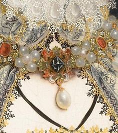 Nicholas Hilliard portrait of Queen Elizabeth I (detail)