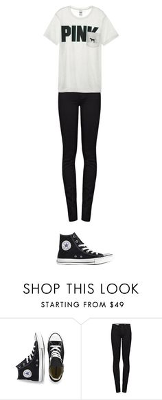 """S7Ep.11-Journey to the Center of the Tardis"" by kayla-poisson ❤ liked on Polyvore featuring Converse, AG Adriano Goldschmied and Victoria's Secret"