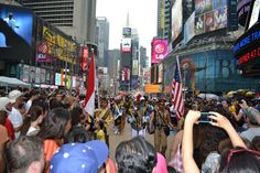 Indonesian Navy Tallship Cadets Hypnotize New York's Times Square Crowds