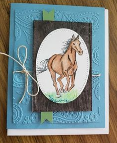Stampin' Up! Let it ride Boy Cards, Flip Cards, Homemade Birthday Cards, Birthday Cards For Men, Masculine Birthday Cards, Masculine Cards, Horse Cards, Scrapbooking, Interactive Cards