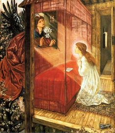 'The Annunciation, Flower of God', Sir Edward Burne-Jones 1862