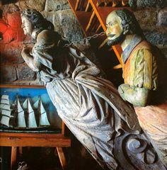 k Pablo Neruda, Ship Figurehead, Chile, Sea Sculpture, Wooden Ship, Fantasy Setting, Effigy, Ship Art, Architectural Salvage