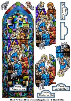 Stunning Stained Glass Nativity with decoupage but not to difficult.Hope you enjoy it.