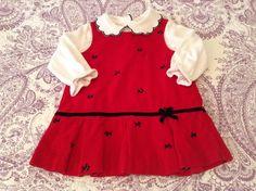 Samantha Dress and Samara Shirt Size 2T $5 Perfect for Christmas photos with Santa