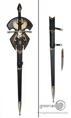 Green Earth Stores - Lord of the Rings Sword - Strider's with Sheath and Plaque
