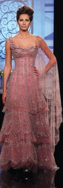 Randa Salamoun ♥ mauve~dusty rose princess gown.  No idea where I would wear this...but I would sure love to wear it!!