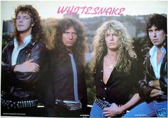 Sykes with the Whitesnake 1987 band (David Coverdal, Cozy Powell and ...)