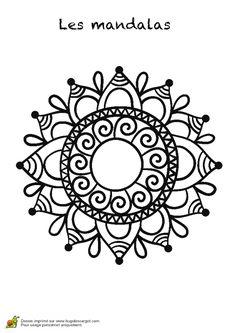 Un joli mandala à colorier pour amuser les enfants Henna Mandala, Mandala Dots, Mandala Drawing, Mandala Design, Embroidery Neck Designs, Folk Embroidery, Beaded Embroidery, Zentangle, Love Coloring Pages