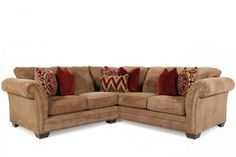 ASH-C-23800/SECT - Ashley Grecian Amber Sectional | Mathis Brothers Furniture