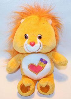 "2003 TCFC Care Bear Cousins BRAVE HEART LION 9"" Orange Plush Stuffed Animal #TCFCPlayAlong"