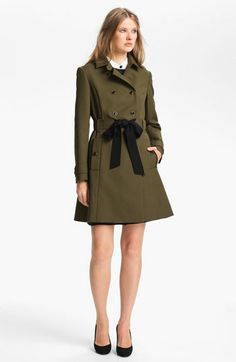 MISS WU Belted Cotton Trench Coat (Nordstrom Exclusive)