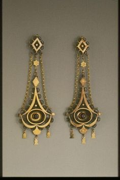 Earrings from France   early 19th c.