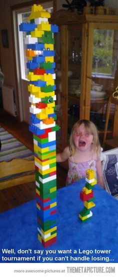 Funny pictures about Lego tower bad loser. Oh, and cool pics about Lego tower bad loser. Also, Lego tower bad loser. Haha Funny, Funny Cute, Funny Memes, Funny Stuff, Funniest Memes, Super Funny, Funny Shit, Lds Memes, Funniest Photos