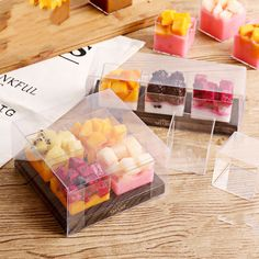 3 4 Cavity Clear Cake Box Transparent Fruit Mousse Cake Pudding Cup Packaging Baking Supplies Party Decoration Shipping A Box Cheapest Boxes For Moving From Right my cake store 100 51 Cake Boxes Packaging, Baking Packaging, Dessert Packaging, Food Packaging Design, Diy Dessert, Dessert Boxes, Dessert Cups, Delicious Cake Recipes, Yummy Cakes