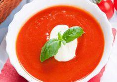 Chilled Tomato Soup With Garlic Recipe Garlic Recipes, Soup Recipes, Diet Recipes, Heart Healthy Recipes, Diabetic Recipes, Healthy Foods, Gestational Diabetes Recipes, Diabetes Diet, Tomato Soup