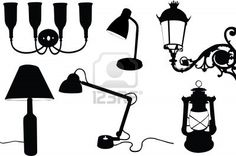 7086728-collection-of-lamps-silhouette.jpg (400×266)
