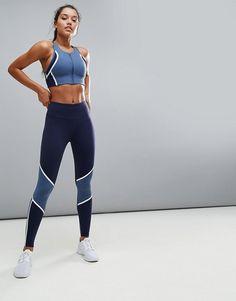 New Balance mallas y top de entrenamiento azules para actividades Intensity Ropa  Para Gimnasio 402545731ea2