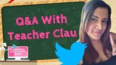 MI primer Q&A ha llegado! Mira las preguntas mas frecuentes que me hacen los estudiantes Mira el video aqui: https://www.youtube.com/watch?v=Q9EV_--CAss  #first #Q&A #questions #answer #askteacherclau