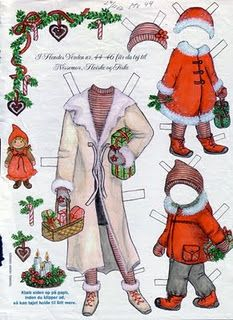 Christmas paper dolls. OH! my sisters and I all played with paper dolls as children. Such happy memories @SarahJones