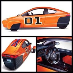General Lee concept design Elio Motors, Reverse Trike, Third Wheel, Tandem, Electric Cars, Automobile, Vehicles, General Lee, Wheels