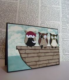 haha pirate owls! For some reason, I think my kids would love this little picture in their room!