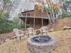 Blue Ridge Vacation Rental - VRBO 648944 - 3 BR Northwest High Country Cabin in GA, In the Aska Adventure Area, Mountain Views, Secluded, Fire Pit, Game Room