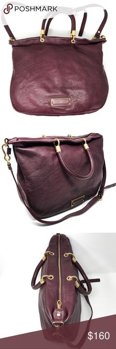 Marc Jacobs Bag oxblood maroon leather Nearly PERFECT condition Marc Jacobs Bag. Make an offer! Dimensions: 15 x 12 x 4  Fast shipping! I always ship my items the same day they are ordered. Marc By Marc Jacobs Bags Shoulder Bags