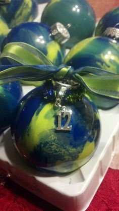 #12 man Seahawk ornament.