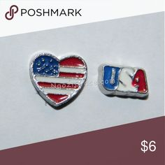 Heart Flag & USA Floating Charms Floating Charms go inside the Floating Charm lockets. I have many different charms. floating charms Jewelry